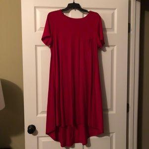 NWOT Lularoe Carly size Medium Christmas Red!